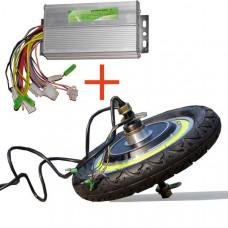 Набор переднее узкое мотор-колесо для электросамоката и безщеточный контроллер 48v 12а