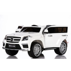 RiVer-AuTo Детский электромобиль Mercedes-Benz GL63 (LS628) с дистанционным управлением, р.Белый
